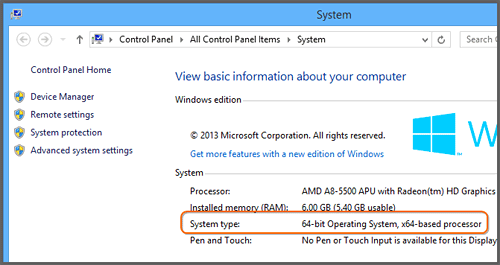 How do I know whether my version of Windows is 32-bit or 64-bit?