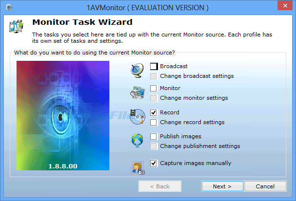 screenshot of 1AVMonitor