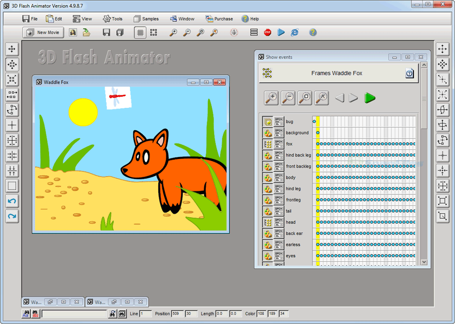flash animation download