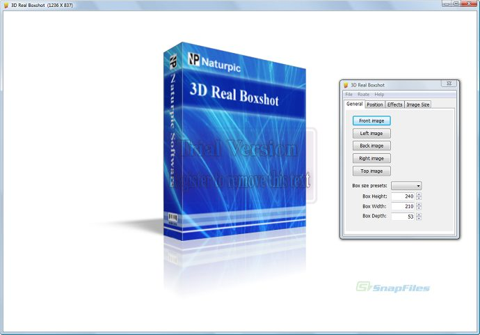 screen capture of 3D Real Boxshot