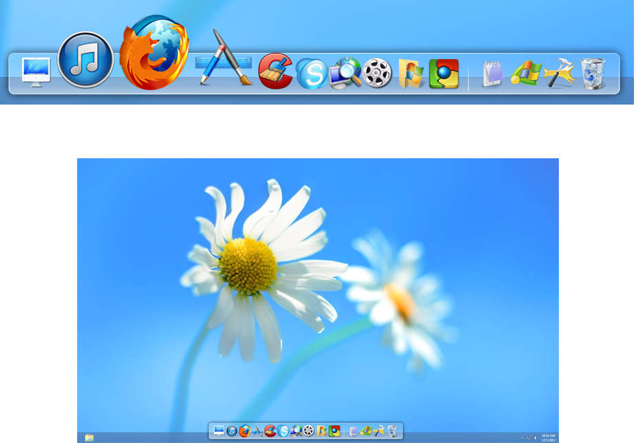 screen capture of RocketDock