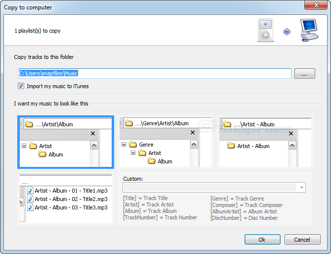 screenshot of SharePod
