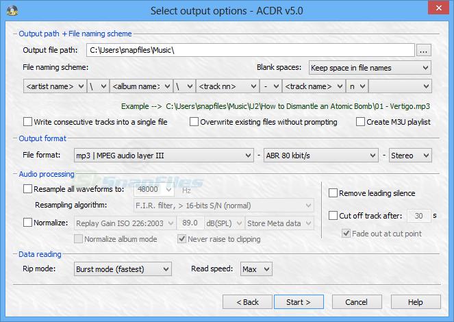 screenshot of ACDR