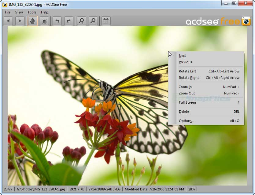 screen capture of ACDsee Free