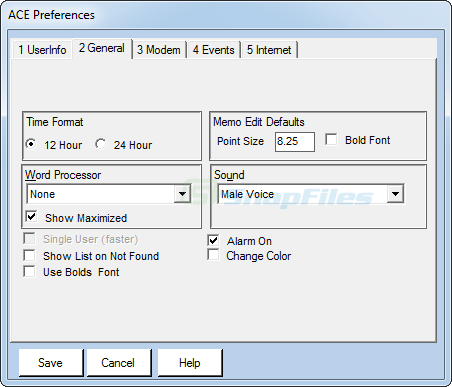 screenshot of Ace Contact Manager