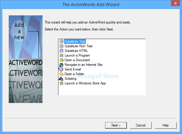 screenshot of ActiveWords Free