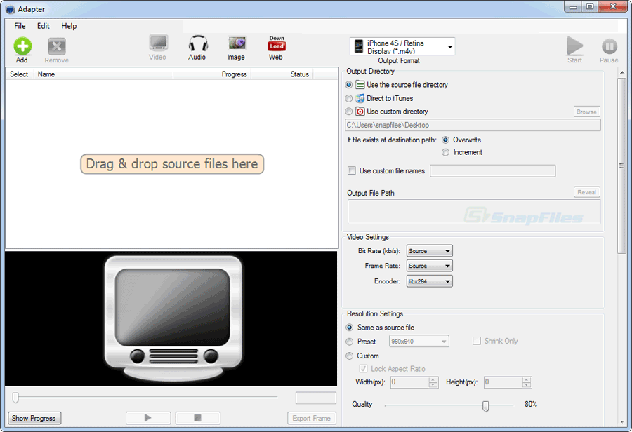 screen capture of Adapter