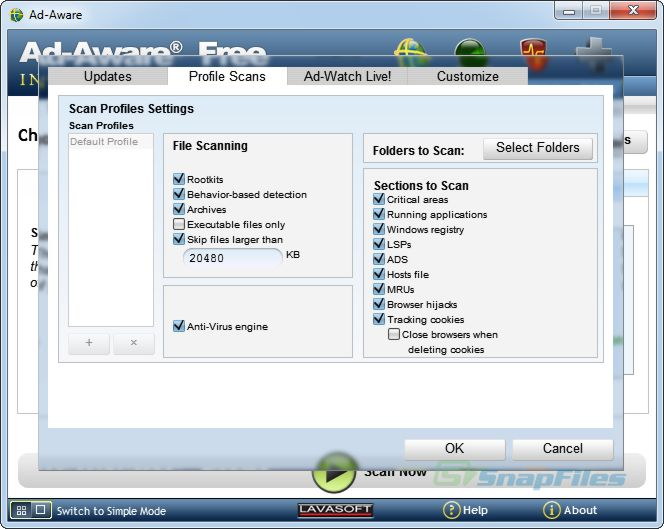 Ad-Aware Free Internet Security 9.0.0 Freeware.