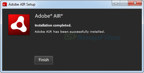 screen capture of Adobe AIR