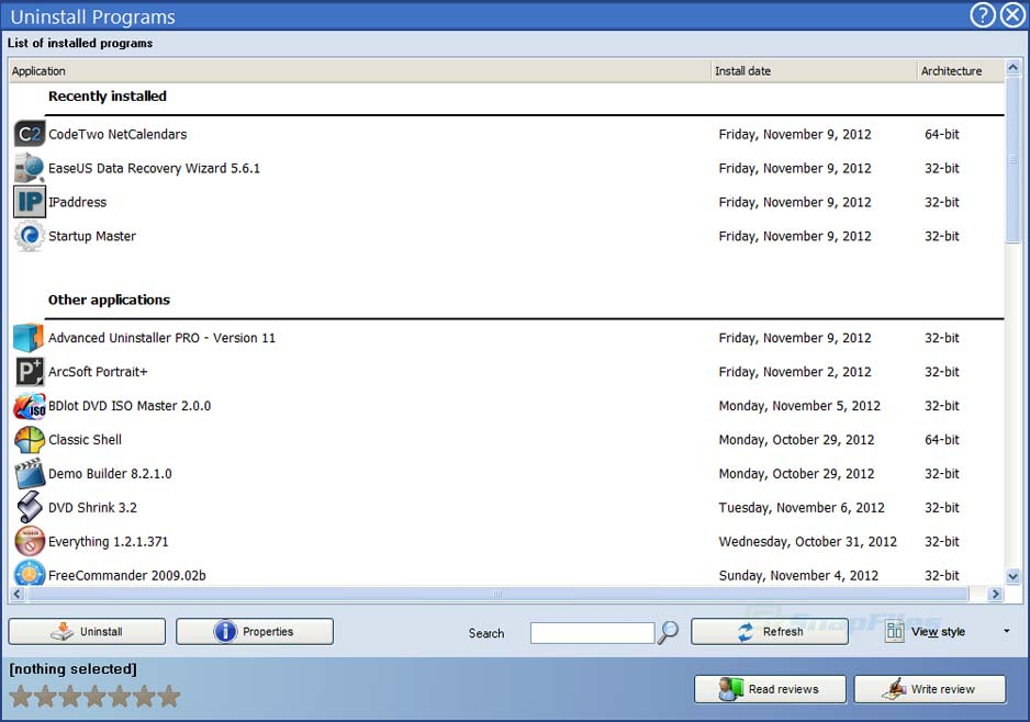 screenshot of Advanced Uninstaller PRO