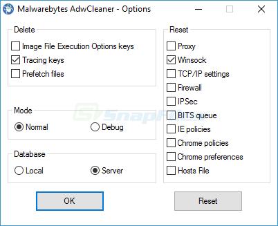Malwarebytes AdwCleaner screenshot and download at SnapFiles com