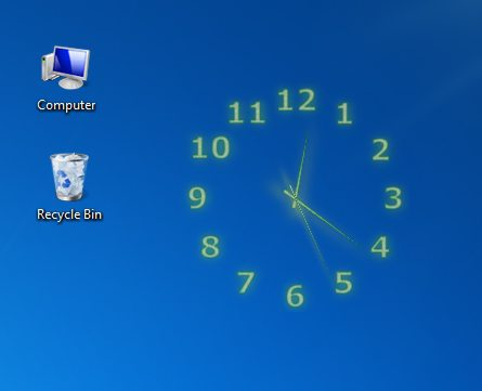 screen capture of TheAeroClock