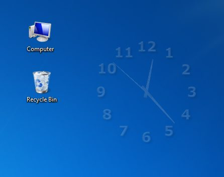 screenshot of TheAeroClock