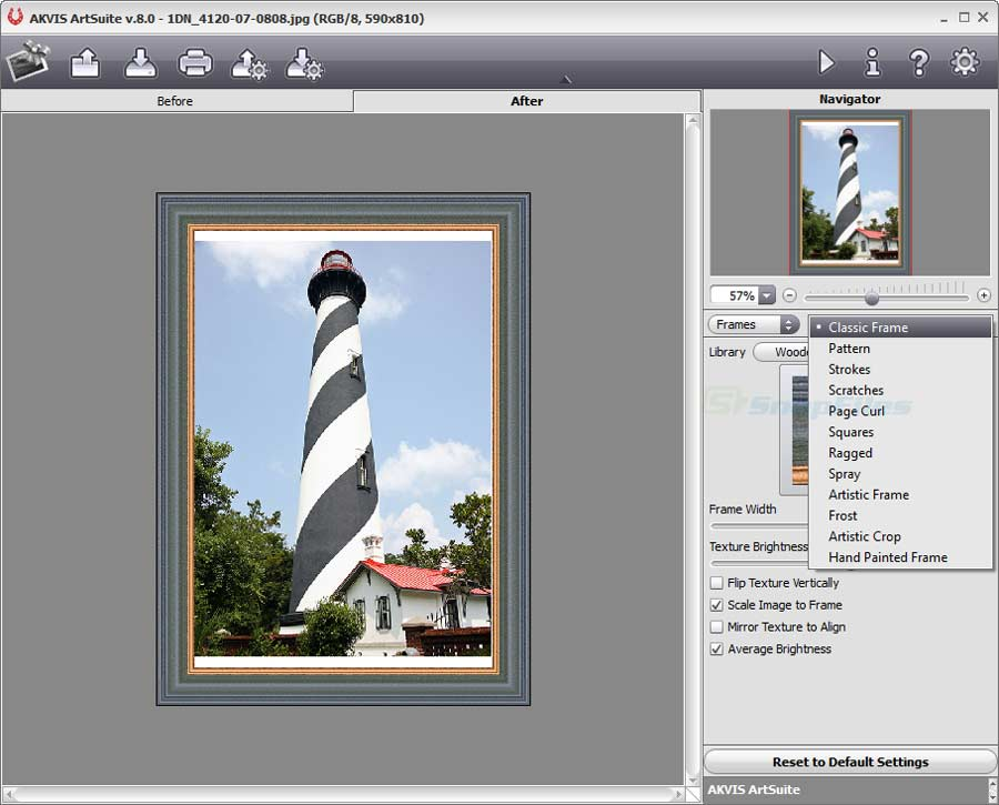 screen capture of AKVIS ArtSuite