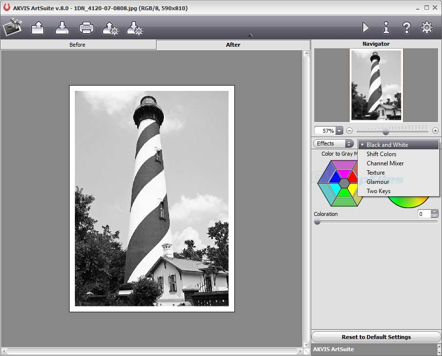 screenshot of AKVIS ArtSuite