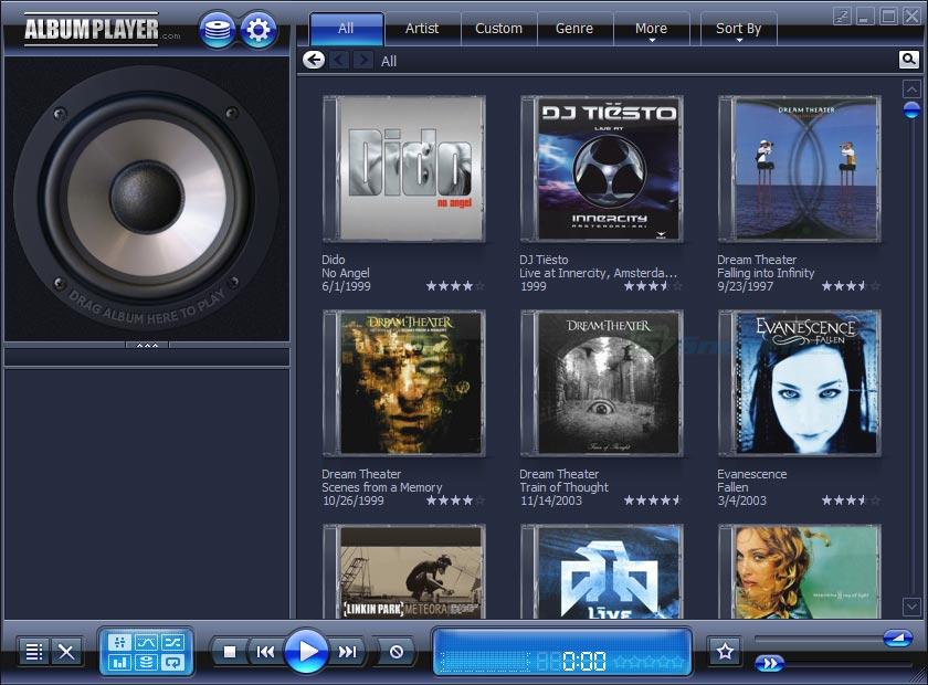 screen capture of AlbumPlayer