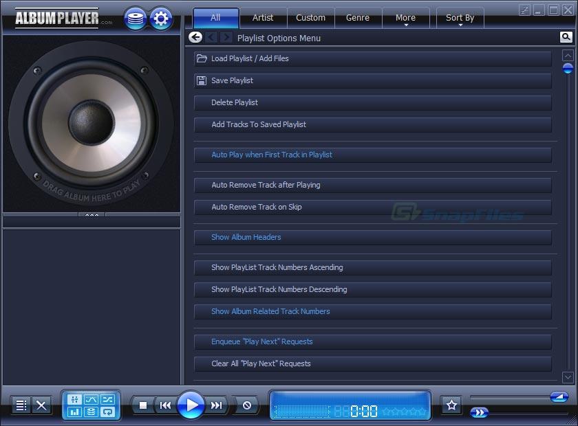 screenshot of AlbumPlayer