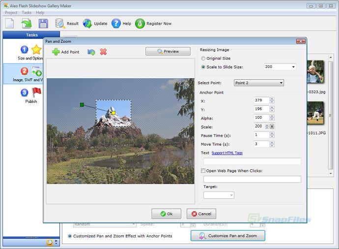 screenshot of Aleo Flash Slideshow Gallery Maker