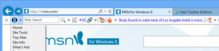 screen capture of Alexa Toolbar