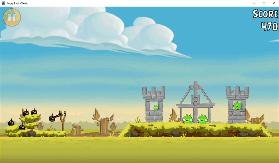 screen capture of Angry Birds for PC