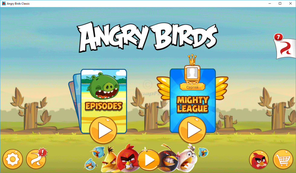 screenshot of Angry Birds for PC