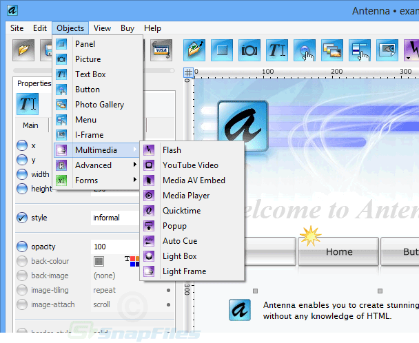 screenshot of Antenna Web Design Studio