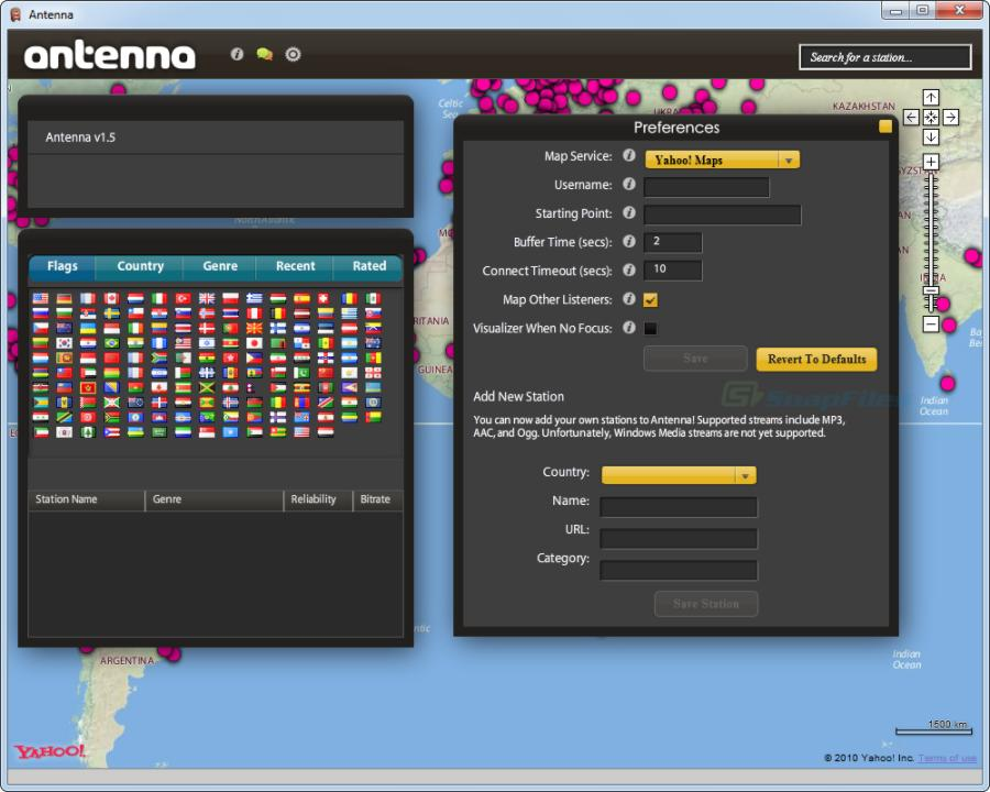 screenshot of Antenna
