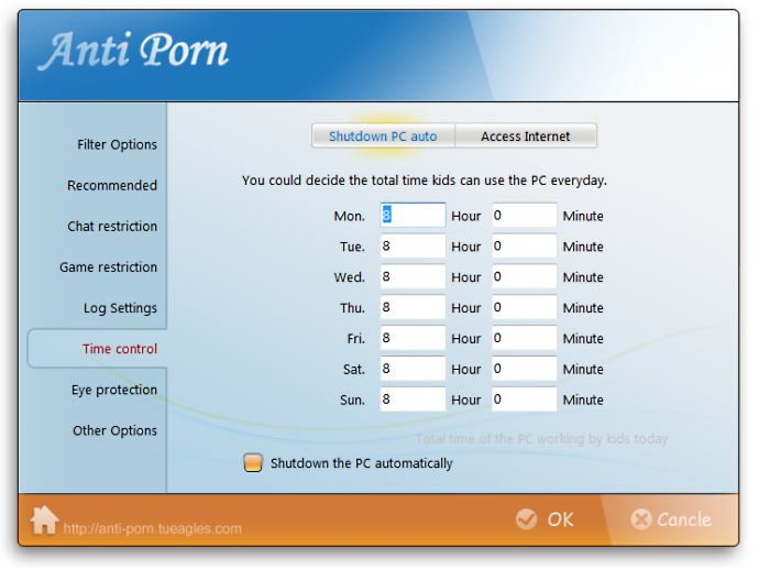 screenshot of Anti-Porn