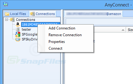 screenshot of AnyConnect
