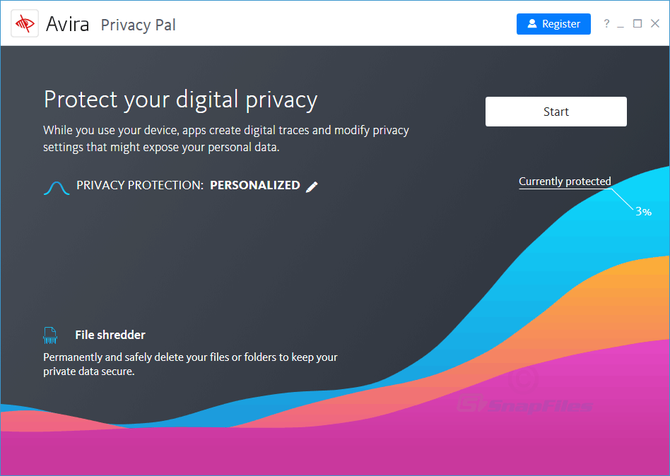 screen capture of Avira Privacy Pal