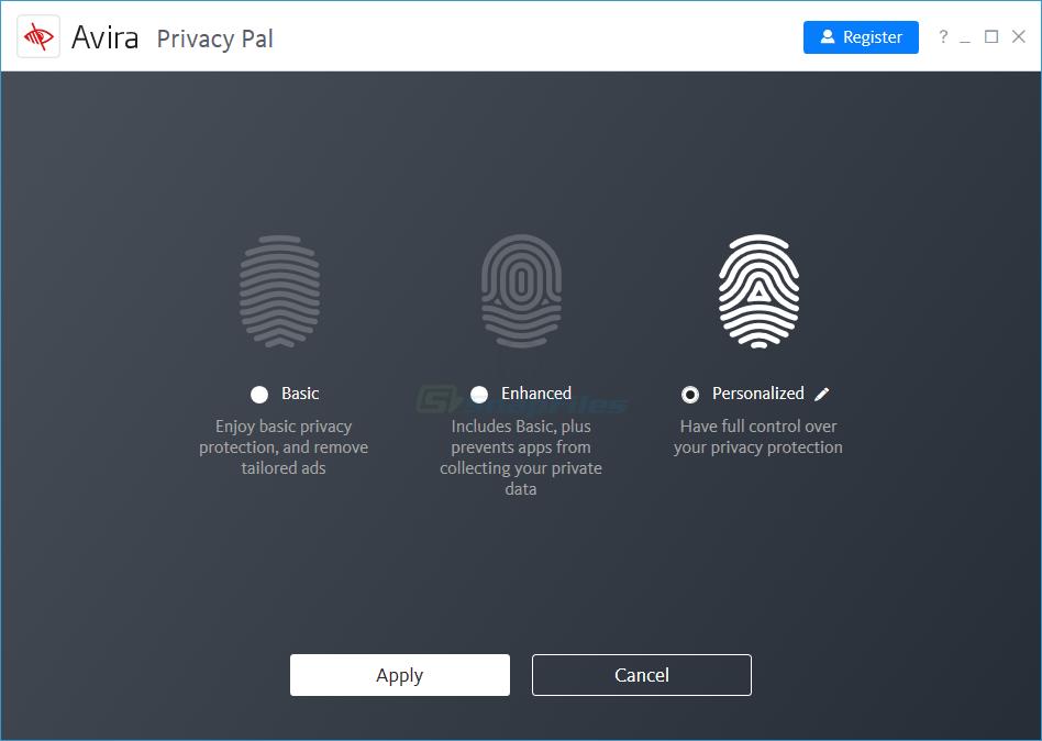 screenshot of Avira Privacy Pal