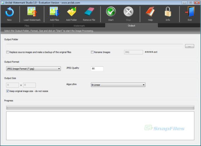 screenshot of Arclab Watermark Studio