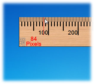 screen capture of A Ruler for Windows