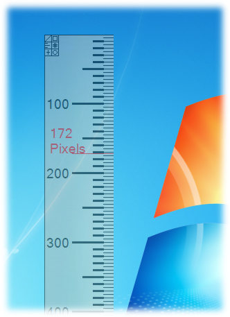screenshot of A Ruler for Windows