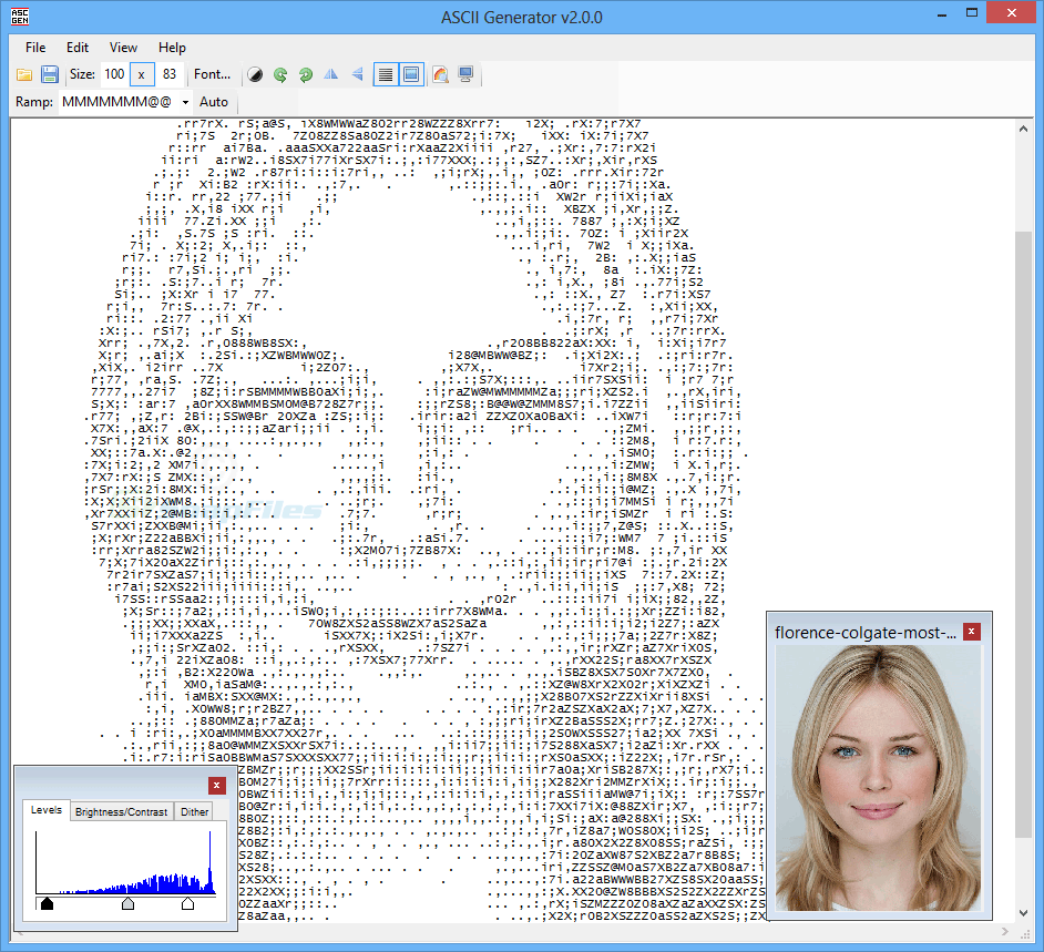 screen capture of ASCII Generator