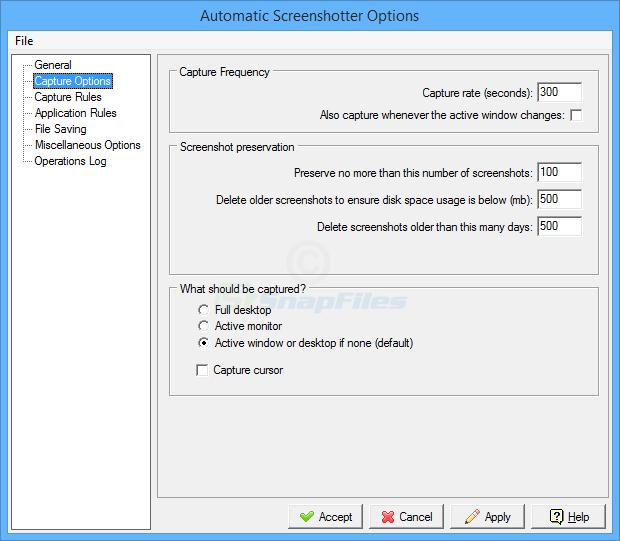 screenshot of Automatic Screenshotter