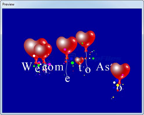 screenshot of ASTRO Flash Creator