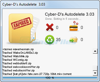 screenshot of Cyber-D Autodelete
