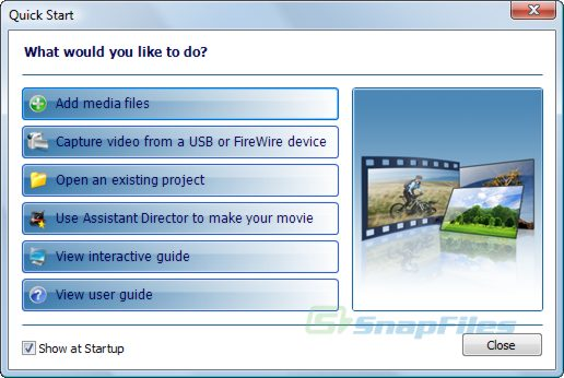 screenshot of Auto Movie Creator