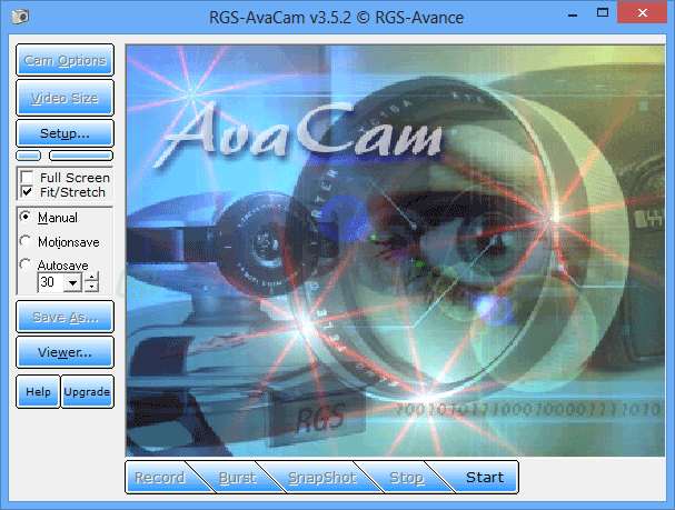 screen capture of RGS-AvaCam