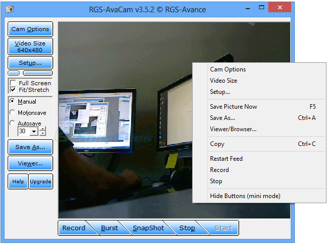 screenshot of RGS-AvaCam