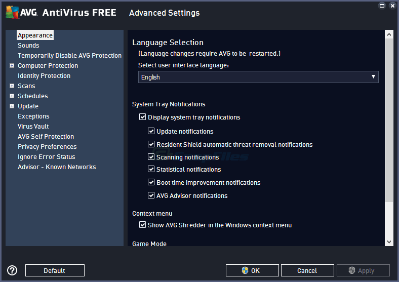 screenshot of AVG Anti-Virus Free Edition