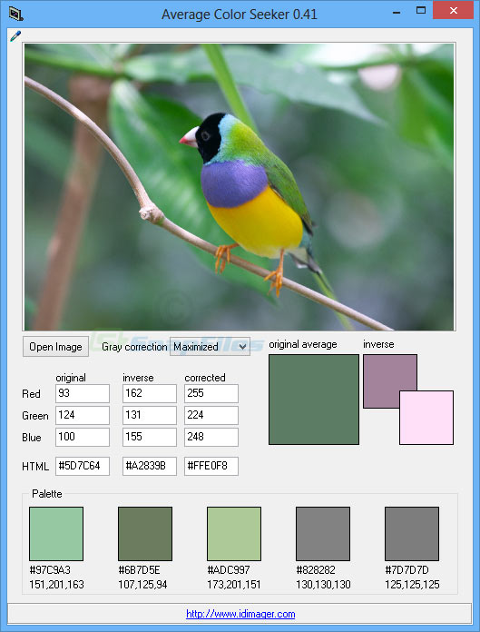 screen capture of Average Color Seeker