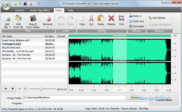 screenshot of AVS Audio Converter