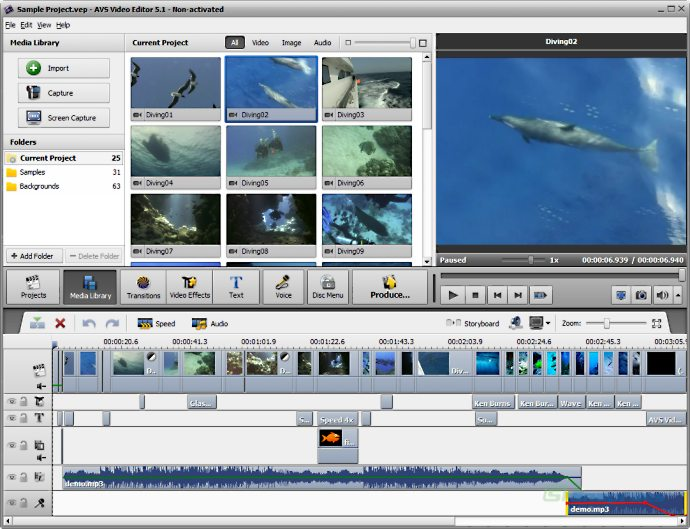 screen capture of AVS Video Editor