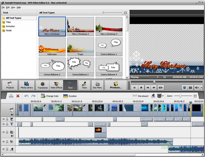 screenshot of AVS Video Editor