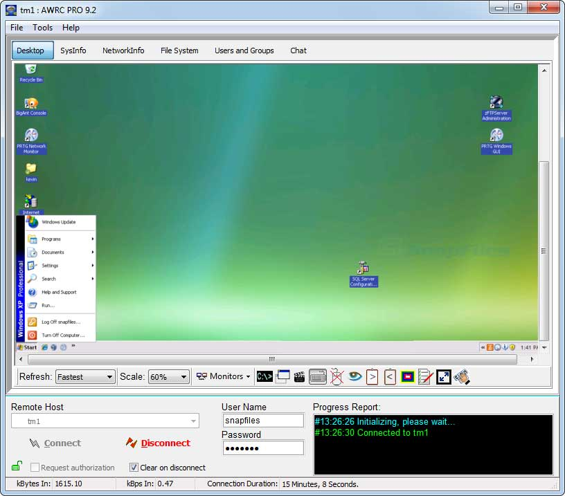 screen capture of AWRC Pro