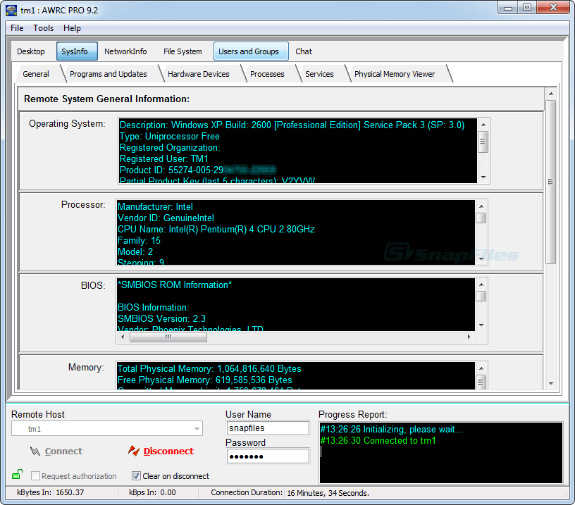 screenshot of AWRC Pro