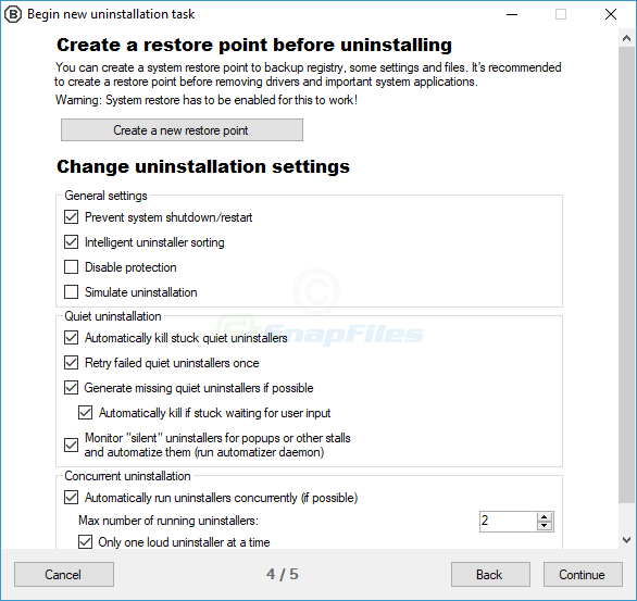 screenshot of BCUninstaller