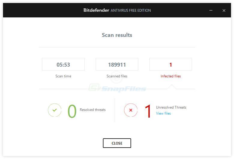 screenshot of BitDefender Free Edition
